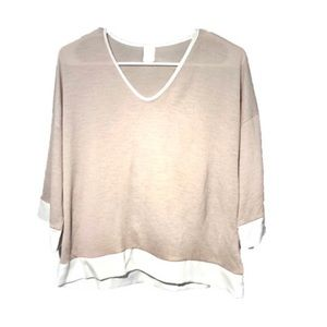 NWOT This & More Tan Top Size Small